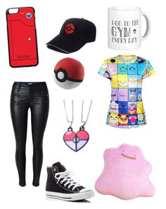 """""""POKEMON GO"""" by lytzilokes ❤ liked on Polyvore featuring Converse"""