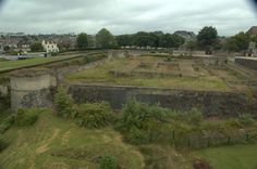 Ruins of the dungeon in William the Conqueror's castle.