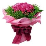 36 stems of royal pink roses in bouquet. With fillers and foliage, special wrapper and ribbon.   You can send your inquiry:  Email us: info@regalomanila.com Contact us: +63-02-413-2273 Website: Regalo Manila http://regalomanila.com Facebook: Regalomanila.com fan page