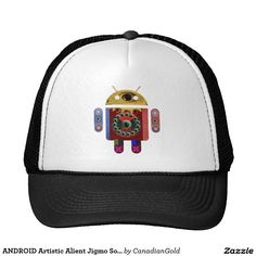 ANDROID Artistic Alient Jigmo Soldier Electronic Trucker Hat
