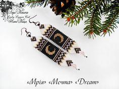 #fashion #art #jewelry Bohemian cute white black gold moon crescent long  by LadyLunarCat