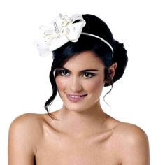 White fascinator Wedding Fascinators e69f71ecbb0