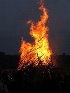 Nordic Midsummer bonfire