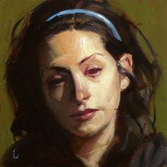 "Daily Paintworks - ""Red Eye"" - Original Fine Art for Sale - © John Larriva Gouache Painting, Oil Painting On Canvas, Painting & Drawing, John Larriva, Oil Portrait, Deviantart, Fine Art Gallery, Figure Painting, Figurative Art"