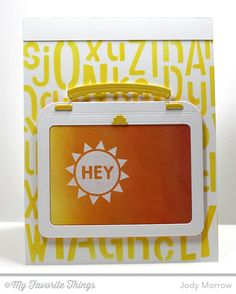 Packed with Positivity, Lunchbox Die-namics, Jumbled Letters Stencil - Jody Morrow #mftstamps