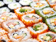 Satisfy your appetite, whilst getting more bang for your buck with our guide on where to find the best all-you-can-eat sushi spots in Metro Vancouver. Sushi Lunch, Sushi Party, Japan Sushi, Tempura Vegetables, Lunch Deals, Grilled Tuna, Spicy Salmon, Miso Soup, Sushi Rolls