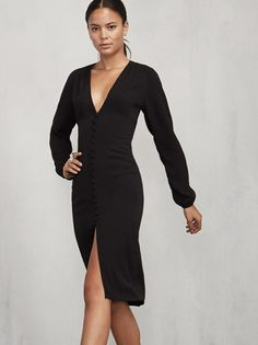 Because you're a damn lady. The Dolores Dress. https://www.thereformation.com/products/dolores-dress-black?utm_source=pinterest&utm_medium=organic&utm_campaign=PinterestOwnedPins