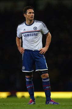 Frank Lampard sporting the adidas Chelsea 2013/14 Away Jersey and new adidas adipure 11pro cleats.
