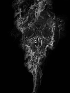 skull in smoke by toinouANDRE on DeviantArt Skull Tattoo Design, Skull Tattoos, Sleeve Tattoos, Tattoo Designs, Tatoos, Rauch Tattoo, Tattoo Perna, Smoke Tattoo, Candle Tattoo