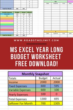 Accomplish Your Biggest Financial Goals With This FREE Monthly Budgeting Spreadsheet Budget Spreadsheet Template, Excel Budget, Monthly Budget Planner, Financial Peace, Financial Goals, Financial Budget, Financial Planning, Budgeting Finances, Budgeting Tips
