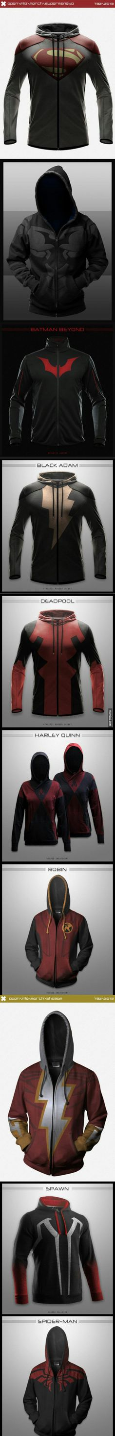 So cool!! I want those!! Especially the deadpool jacket