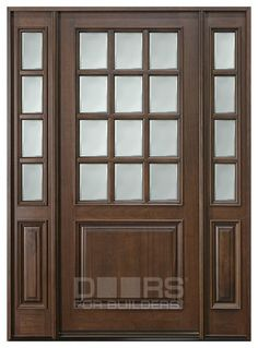 Love the look and feel of solid wood doors. Entry Door - Single with 2 Sidelites - Solid Wood with Walnut Finish, Classic Series, Model Custom Exterior Doors, Wood Exterior Door, Exterior Front Doors, Front Entry, Wood Entry Doors, Rustic Doors, Knotty Alder Doors, Classic Doors, Illinois