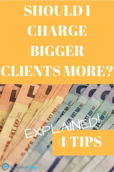 Is bigger always better? Do bigger clients always equal more money, and should you charge multi-million-dollar corporations the same as mom and pop shops? There's a lot to consider, but thankfully, we've got some tips! Read more to learn what you need to consider when charging clients large and small. https://www.freelancermap.com/freelancer-tips/12214-different-client-different-price