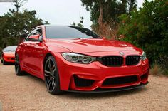 BMW M4 in red.  Glad to see it will be available in my favorite color