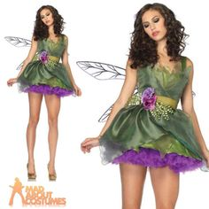 Adult woodland fairy #costume #pixie tink #ladies fancy dress outfit by leg avenu,  View more on the LINK: 	http://www.zeppy.io/product/gb/2/152261939932/