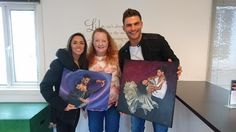 Wonderful meeting with Janette and Aljaz to deliver my paintings