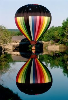 A balloon and it's reflection over still waters somewhere in Georgia, USA.