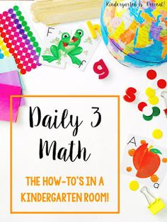 Daily 3 Math Kindergarten activities have made my math block and center time fabulous.  Here are a few tricks and tips on how to set-up your room for Daily 3 Math and how to get started in the classroom!