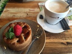 Apple pie with cappuccino