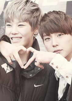 Zelo and Himchan - BAP's youngest/rapper and second oldest/vocal