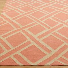 Chippendale Trellis Dhurrie: Shrimp and Ivory...perfect rug for the gray bedroom