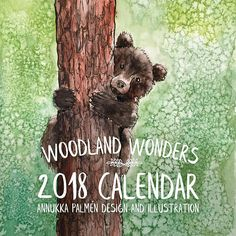 Your place to buy and sell all things handmade Calendar 2018, Woodland, My Arts, Illustration, Wall, Design, Illustrations, Character Illustration