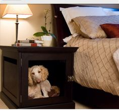 Nightstand dog cage
