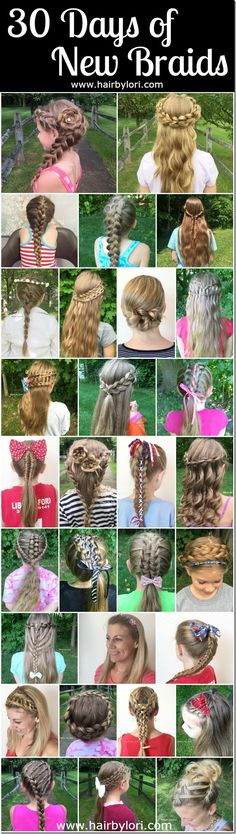 30 Days of New Braids - a 30 Day Braiding Challenge with tutorials from HairByLori.com