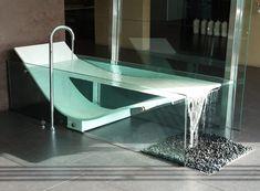 Dream bathrooms 334603447310877397 - Tub Like Infinity Pool Le Cob Glass Bathtub Unique Bathtubs luxurious design to beautify your bathroom Home decoration Source by