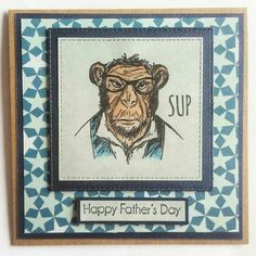 Hipster fathers day card by #clairescraftboutique