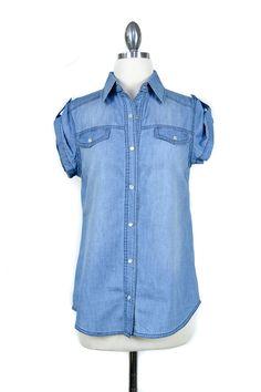 denim shirt updated for spring/summer
