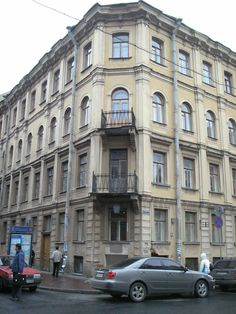 The house where was the apartment of Dostoevsky. Now here is the Museum of the writer. Saint Petersburg, Kuznechny pereulok, 5/2.