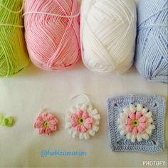 Örgü, tığ işi, kanaviçe,keçe ve D.I.Y örnekleri: Tığ işi popcorn deseni - free pattern - crochet