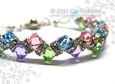 Swarovski Bracelet, Sweet Berry Crystal Bracelet by CandyBead