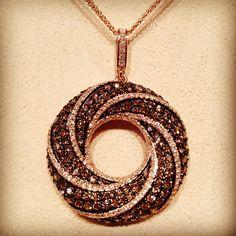 Chocolate Diamond Pendant    #cwjewelers #pintowinHOF