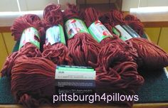 6 - Murphy's - Triple Check - Rug Yarn - HTF - 667 - Copper - 70 Yards - 75% Rayon 25 Cotton - Price Is For All by pittsburgh4pillows on Etsy