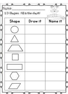 2d shape attributes chart worksheets sb11818 sparklebox fun for the kids worksheets. Black Bedroom Furniture Sets. Home Design Ideas
