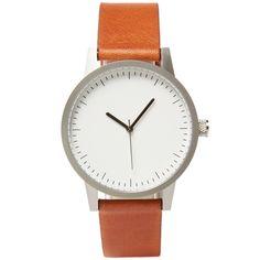 Simple Watch Co. Kent 38 Watch (Tan, Silver & White)