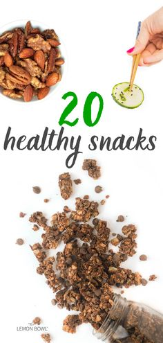 If you feel guilty for snacking, you must try these 20 make-ahead healthy snack recipes from The Lemon Bowl. They're easy, easy to prep in advance, and full of protein, vitamins, minerals, and healthy fats to keep you full and satisfied all day. Great for weight loss, kids, lunches, and road trips!