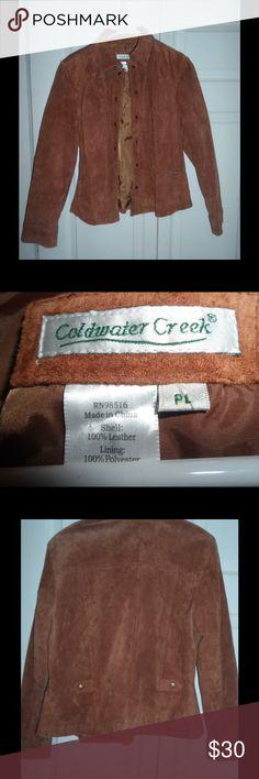 Coldwater Creek Suede Jacket Zip up jacket in good condition. Coldwater Creek Jackets & Coats Blazers