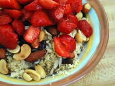Breakfast Couscous- interesting.. It reminds me of oatmeal… need to try...