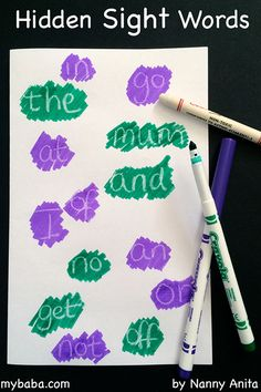 Make learning sight words more interesting with this hidden sight word activity. It is perfect for making homework for younger children more fun. Learning Sight Words, Sight Word Activities, English Activities, Educational Activities, Jolly Phonics, New Words, Homework, Fun Things, More Fun