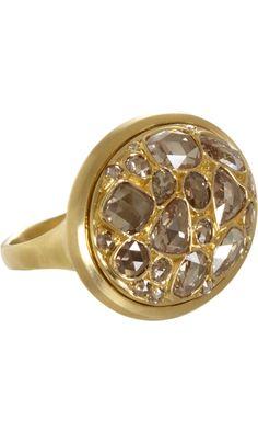 Eva Fehren Champagne Diamond Classic Ring