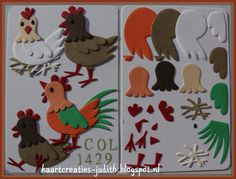Chicken Family (1) Col1429 - Marianne Design