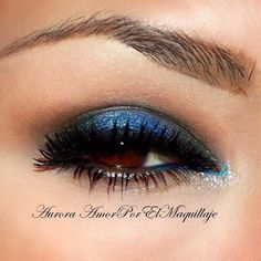 Knock 'em dead with this sultry navy blue smokey! Get the amazing palette that got Aurora's look: http://www.preen.me/look/12895017?FB=BA