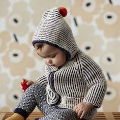 Hand Knit Merino Wool North Wind Coat - Ink - 18m-5y