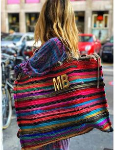 BOHOGIPSYSHOPPER CUSTOMIZE YOUR LETTERS INITITALS Diy Fashion, Fashion Bags, My Bags, Purses And Bags, Sacs Design, Boho Bags, Summer Bags, Knitted Bags, Handmade Bags