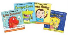 How to ... Complete Collection (4)  This collection includes the following titles: How to Feed Your Cheeky Monkey, How to Brush Your Teeth with Snappy Crocodile, How to Tuck In Your Sleepy Lion and How to Bathe Your Little Dino. .