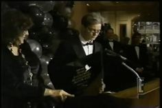 an old E! montage with a very brief clip of River accepting his humanitarian award from PETA
