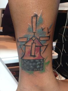 "My latest tattoo inspired by the poem ""Welcome to Holland"" by Emily Perl Kingsley #windmill"